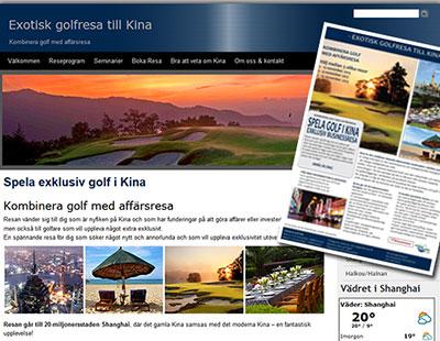 Exklusiv Golfresa Mikrosite & Produktblad