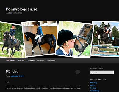 Ponnybloggen – enklaste bloggen