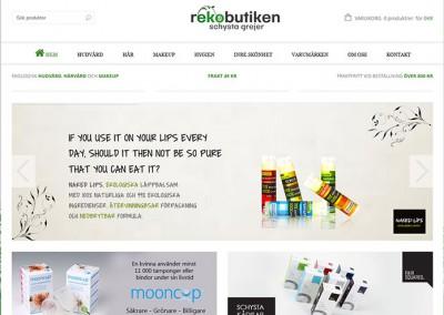 Rekobutiken – webbshop