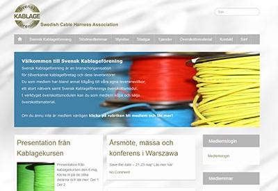 Svensk Kablage Förening – medlemssidor & specialmodul