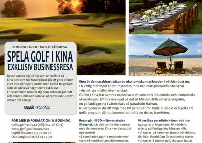Informationsblad för Golfresa